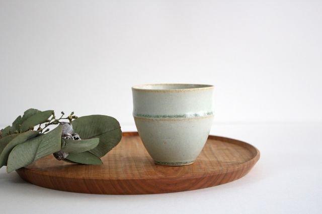 カップ大 水色 陶器 寺嶋綾子