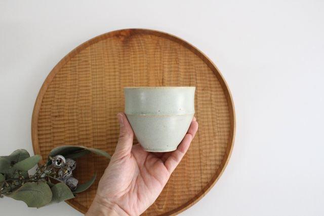 カップ大 水色 陶器 寺嶋綾子 画像2