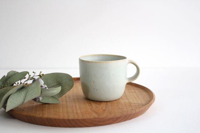 マグカップ 小 水色 陶器 寺嶋綾子