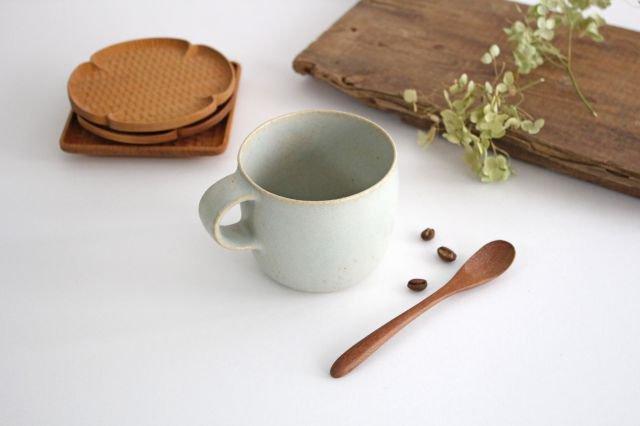 マグカップ 小 水色 陶器 寺嶋綾子 画像2
