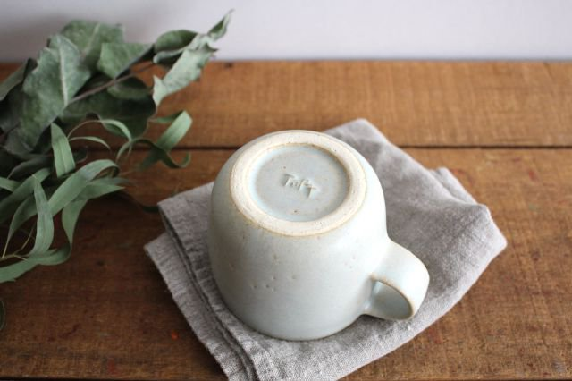 マグカップ 小 水色 陶器 寺嶋綾子 画像3