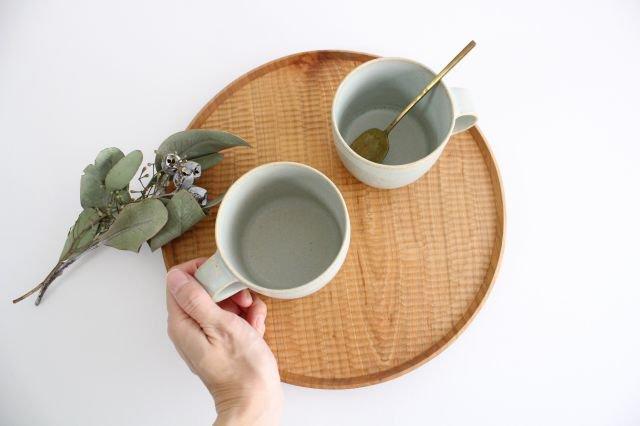 マグカップ 小 水色 陶器 寺嶋綾子 画像5