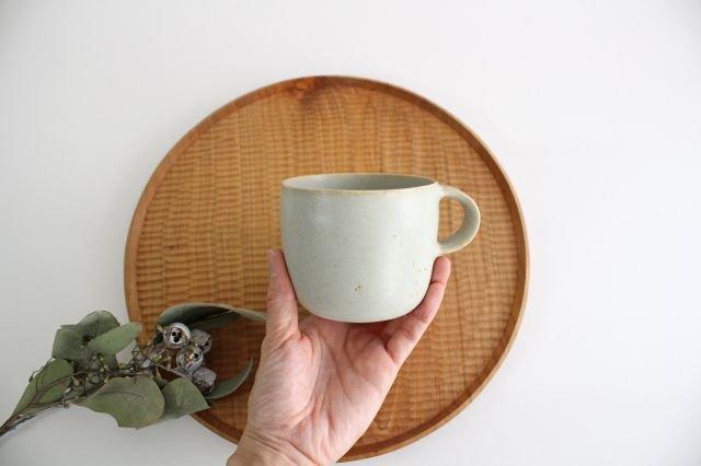 マグカップ 小 水色 陶器 寺嶋綾子 画像6