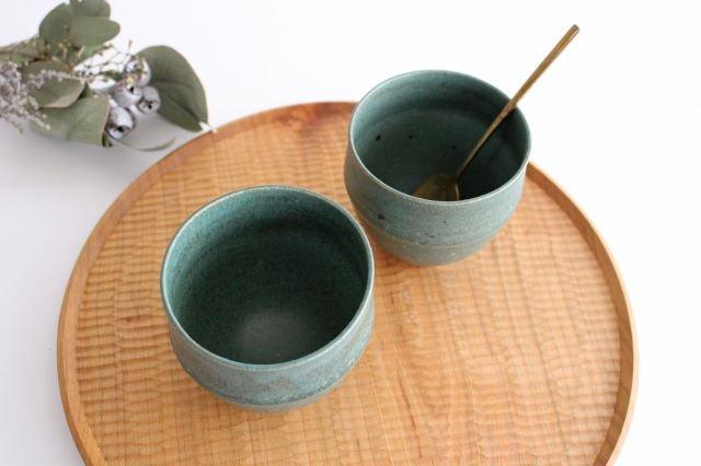 カップ 大 緑色 陶器 寺嶋綾子 画像3