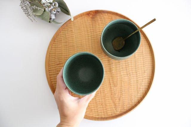 カップ 大 緑色 陶器 寺嶋綾子 画像4