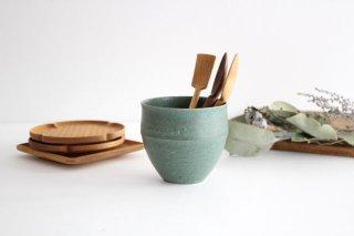 カップ 大 緑色 陶器 寺嶋綾子商品画像