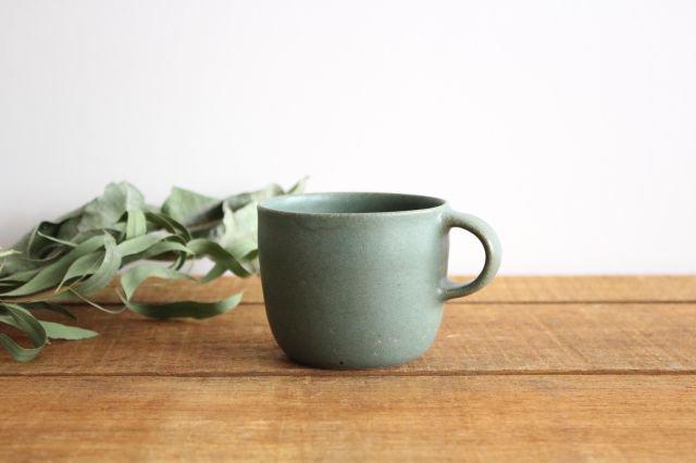 マグカップ 小 緑色 陶器 寺嶋綾子