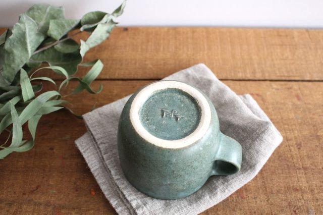 マグカップ 小 緑色 陶器 寺嶋綾子 画像3