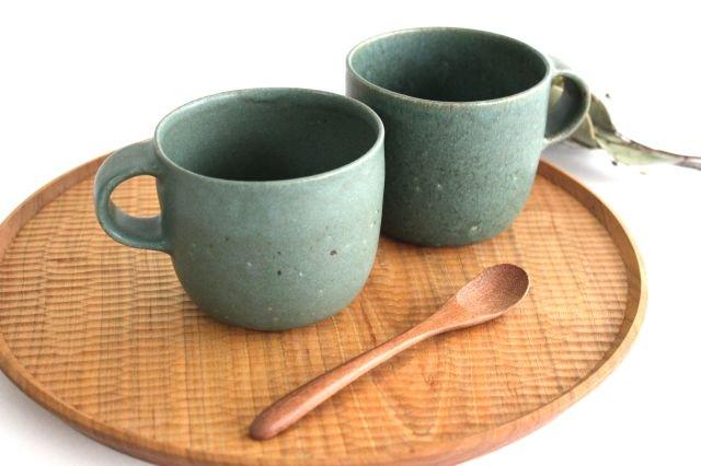マグカップ 小 緑色 陶器 寺嶋綾子 画像4