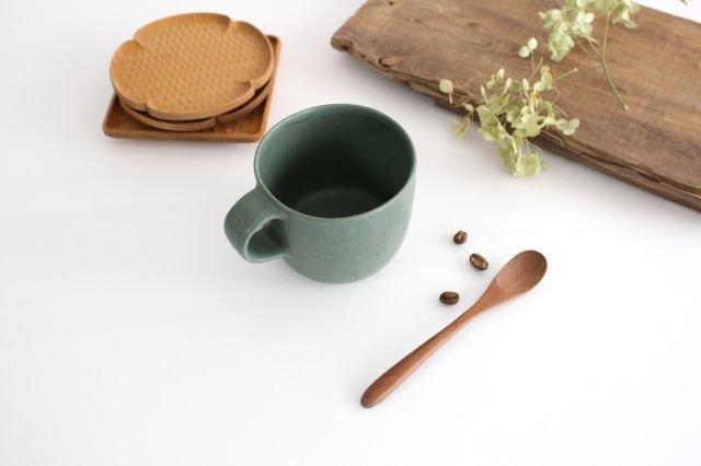 マグカップ 小 緑色 陶器 寺嶋綾子 画像5