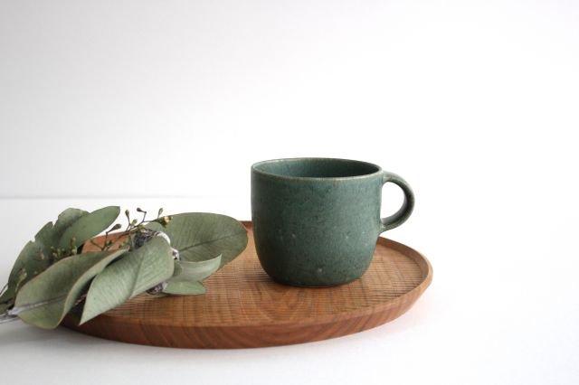 マグカップ 小 緑色 陶器 寺嶋綾子 画像6