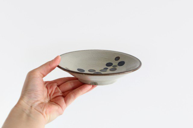 5寸皿 連ドット 陶器 mug やちむん 画像5