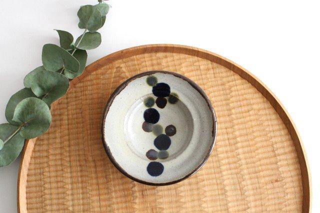リム小皿 連ドット 陶器 mug やちむん