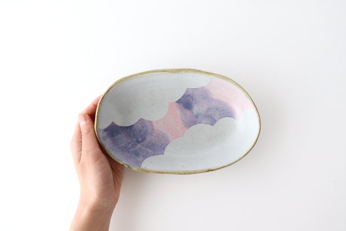 雲 楕円皿 【A】 陶器 相澤かなえ 画像5