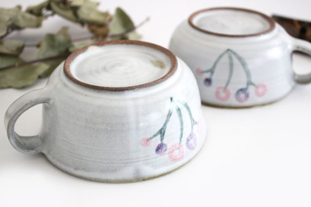 花柄 スープマグ 陶器 相澤かなえ 画像3