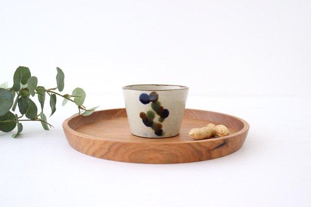 そばちょこカップ 連ドット 陶器 mug やちむん
