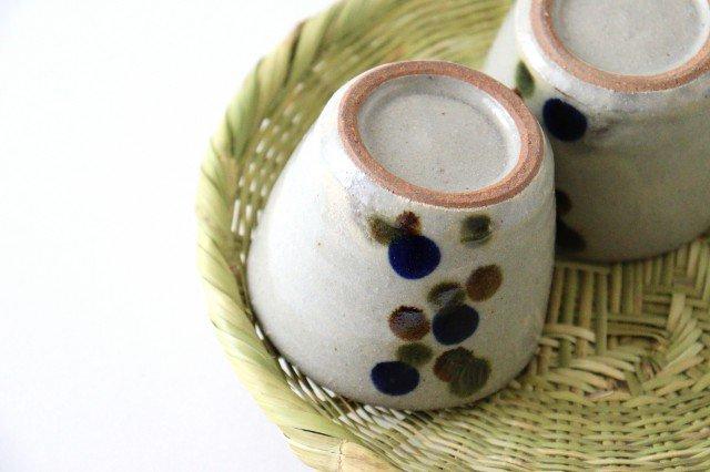 そばちょこカップ 連ドット 陶器 mug やちむん 画像4