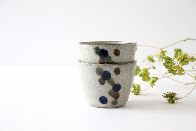 そばちょこカップ 連ドット 陶器 mug やちむん 画像6