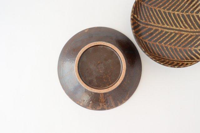 7寸皿 灰釉 線紋 陶器 南陶窯 久場政一 やちむん 画像5