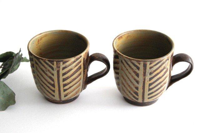 マグカップ 灰釉 線紋 陶器 南陶窯 久場政一 やちむん 画像5
