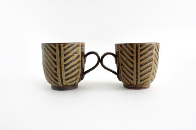 マグカップ 灰釉 線紋 陶器 南陶窯 久場政一 やちむん 画像6