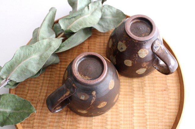 マグカップ 灰釉 ドット 陶器 南陶窯 久場政一 やちむん 画像5
