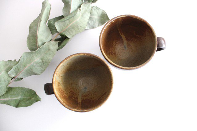 マグカップ 灰釉 ドット 陶器 南陶窯 久場政一 やちむん 画像6