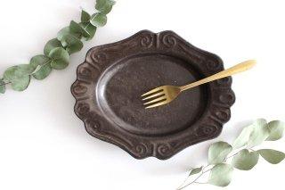 キャラメリゼブラウン 楕円ロココ皿 陶器 木のね商品画像