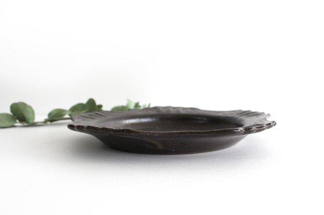 キャラメリゼブラウン 丸ロココ皿 陶器 木のね 画像2