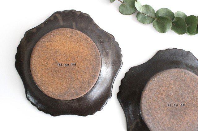 キャラメリゼブラウン 丸ロココ皿 陶器 木のね 画像6