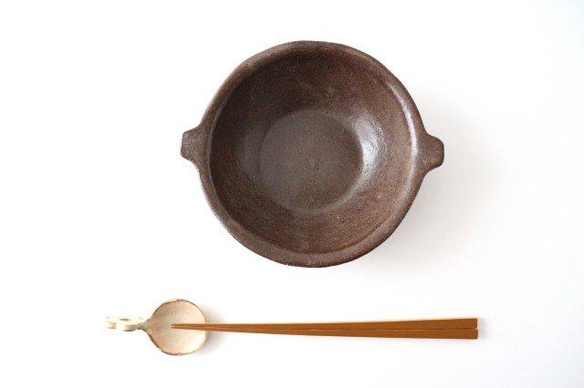 キャラメリゼブラウン スープボウル 陶器 木のね 画像4