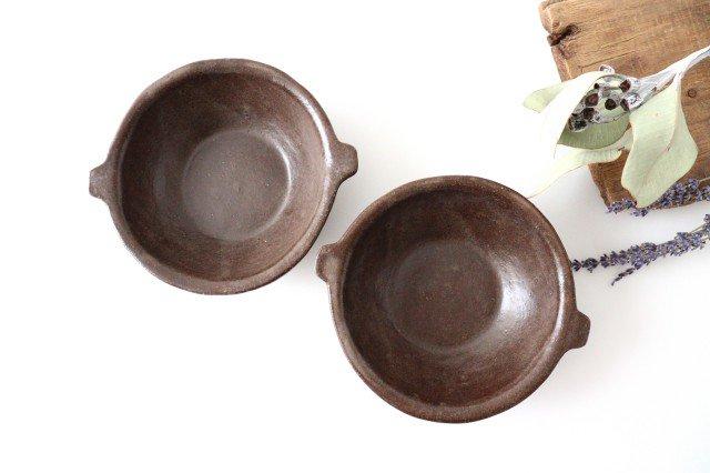 キャラメリゼブラウン スープボウル 陶器 木のね 画像5