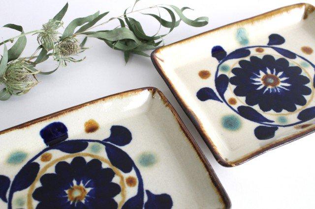 角皿 菊花紋 陶器 エドメ陶房 やちむん 画像4