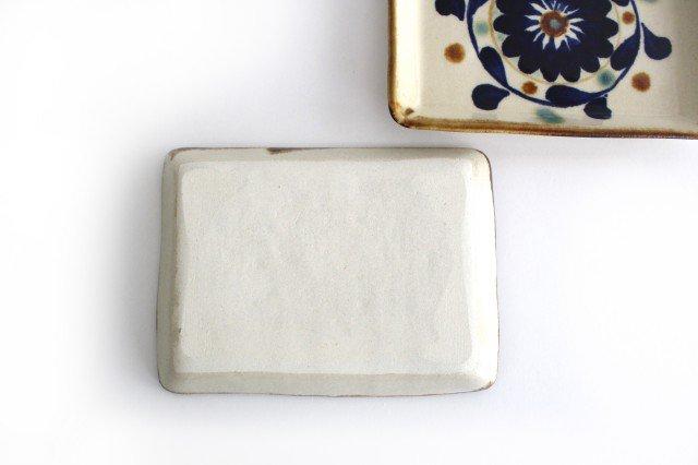 角皿 菊花紋 陶器 エドメ陶房 やちむん 画像5