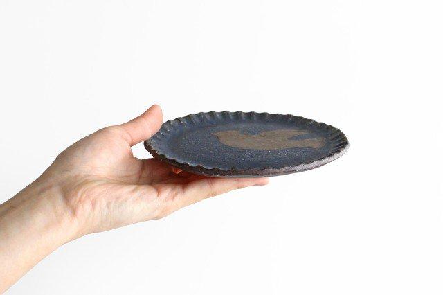 ことりのプレート 青 陶器 工房ことりの やちむん 画像2