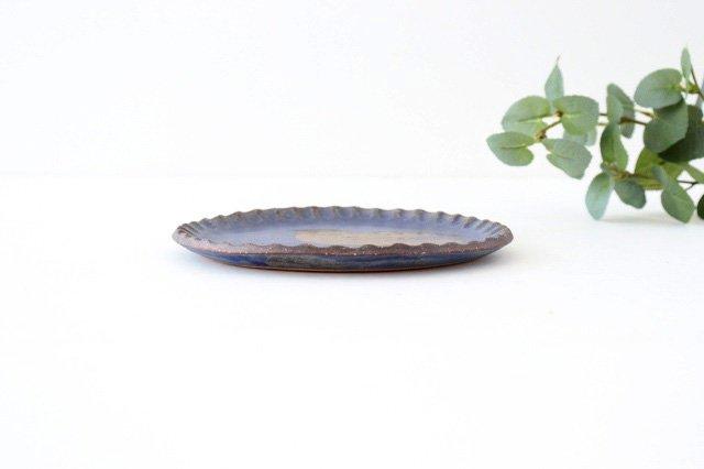 ことりのプレート 青 陶器 工房ことりの やちむん 画像5