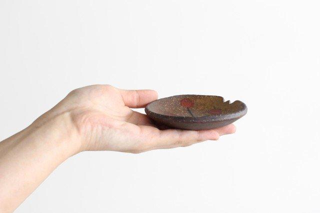 ことりの豆皿 ドット+線 陶器 工房ことりの やちむん 画像2
