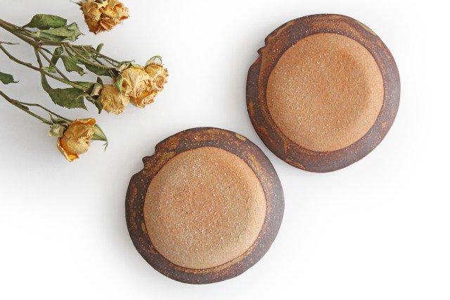 ことりの豆皿 ドット+線 陶器 工房ことりの やちむん 画像3