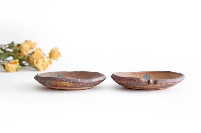 ことりの豆皿 ドット+線 陶器 工房ことりの やちむん 画像4