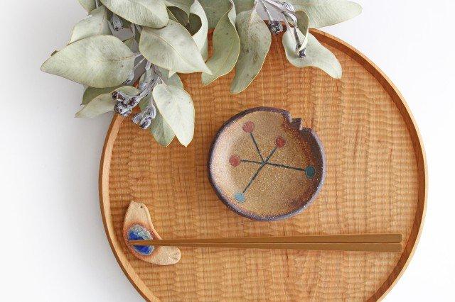 ことりの豆皿 ドット+線 陶器 工房ことりの やちむん 画像5