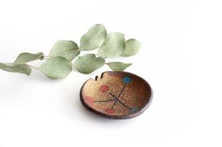 ことりの豆皿 ドット+線 陶器 工房ことりの やちむん商品画像