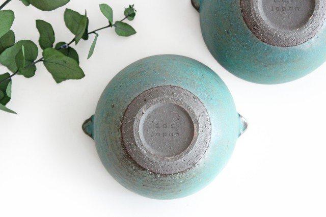 美濃焼 オアシス 耳付きマルチボウル ブルー 陶器 画像3