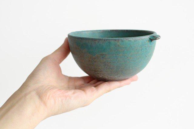 美濃焼 オアシス 耳付きマルチボウル ブルー 陶器 画像4