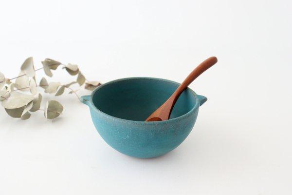 耳付きマルチボウル ブルー 陶器 オアシス 美濃焼 商品画像