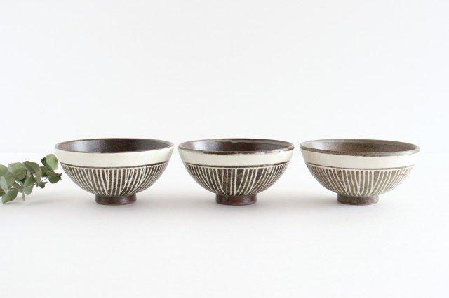 美濃焼 松葉象がん飯碗 ブラウン 陶器 画像2