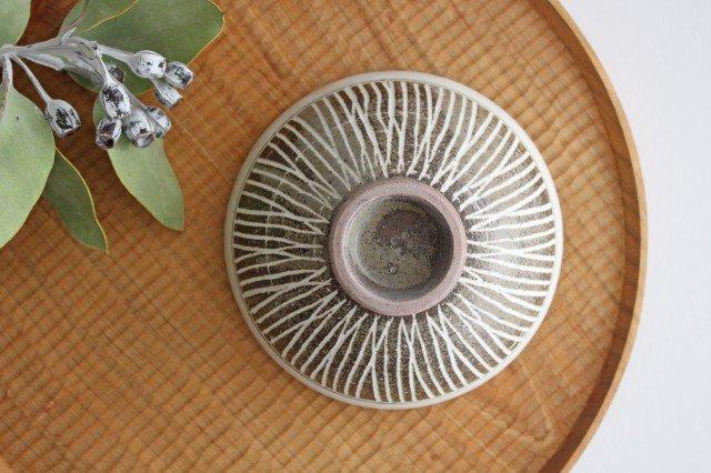 美濃焼 松葉象がん飯碗 ブラウン 陶器 画像4