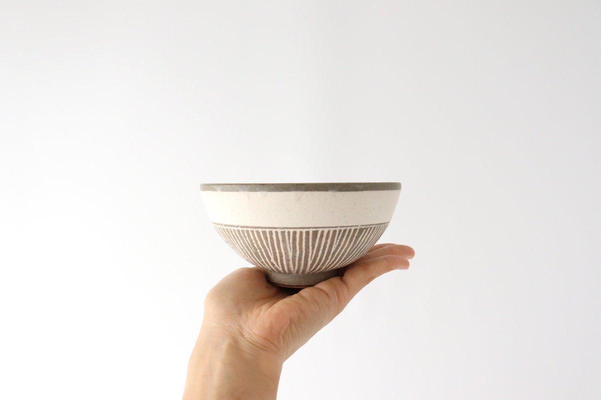 美濃焼 松葉象がん飯碗 ブラウン 陶器 画像5