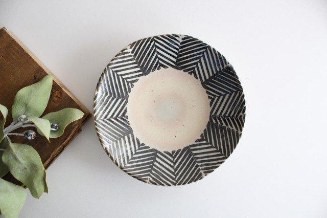 波佐見焼 ORIME ヘリンボーン 6寸丸皿 ブラウン 【B】 陶器