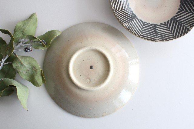 波佐見焼 ORIME ヘリンボーン 6寸丸皿 ブラウン 【B】 陶器  画像3