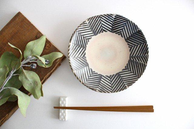 波佐見焼 ORIME ヘリンボーン 6寸丸皿 ブラウン 【B】 陶器  画像5